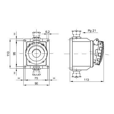 Gewiss (UK) Ltd GW62426 : Socket, Low Voltage Watertight