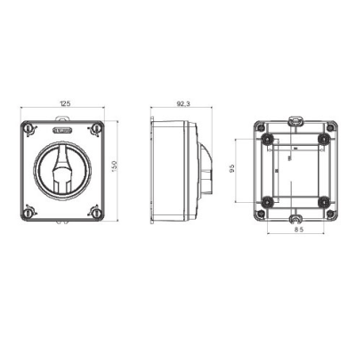 Gewiss (UK) Ltd GW70405P : Switch, Isolator Rotary 3P