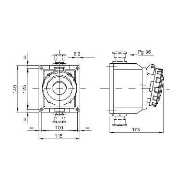 Gewiss (UK) Ltd GW63453 : Socket, Low Voltage Watertight