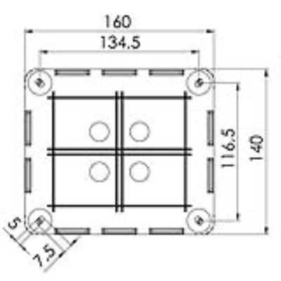 Wiska UK Ltd 10101462 : Junction Box, Combi 1210/5 c/w 5