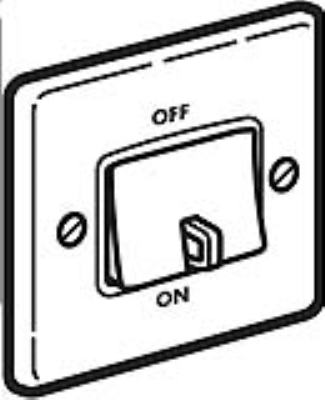 Legrand Electric Ltd 833009 : Isolator, 3 Pole Fan Switch