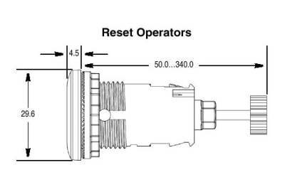 Rockwell Automation 800FM-R611 : Pushbutton, Reset