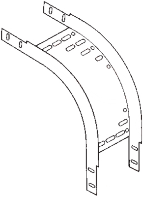 Lasnek A-HDXF-100-94 : Riser, 90Deg Outside 100x50mm