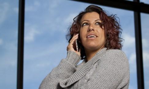 電話と女性