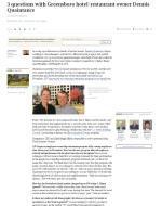 Triad Business Journal article, Dennis Quaintance