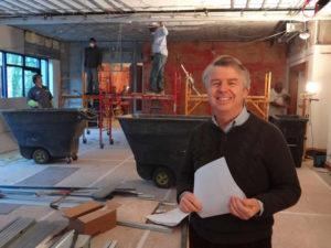 Dennis Quaintance at O.Henry Hotel's renovation