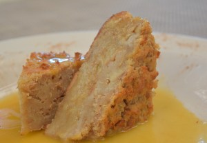 Bread Puddingwith persimmon hard sauce