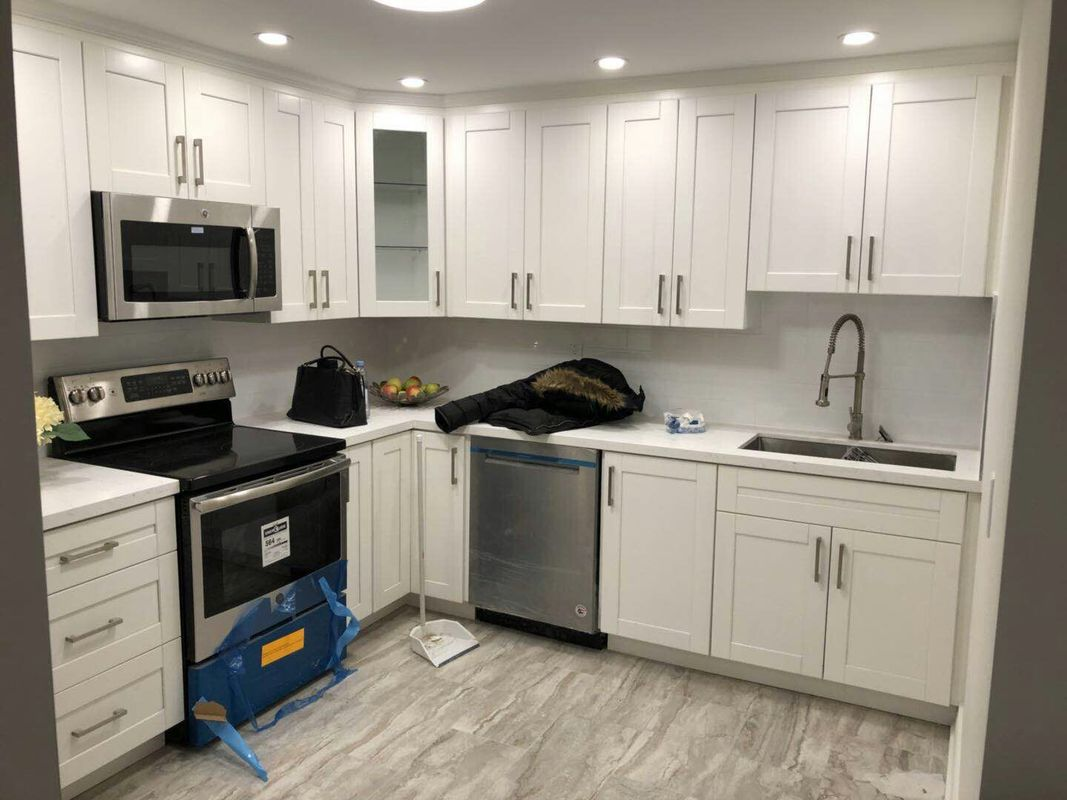 kitchen upgrade personalized items full for our client in vaughan lucky 5 group one of anton from has contacted us to help him a job we started the project by demolition old mdf kichen