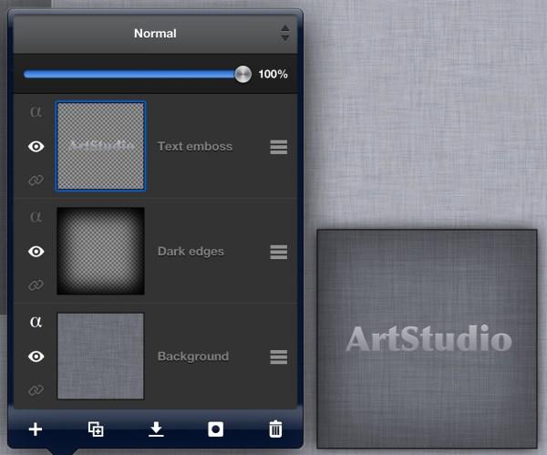 Artstudio Tutorial - Ios Linen Texture With Embossed Text