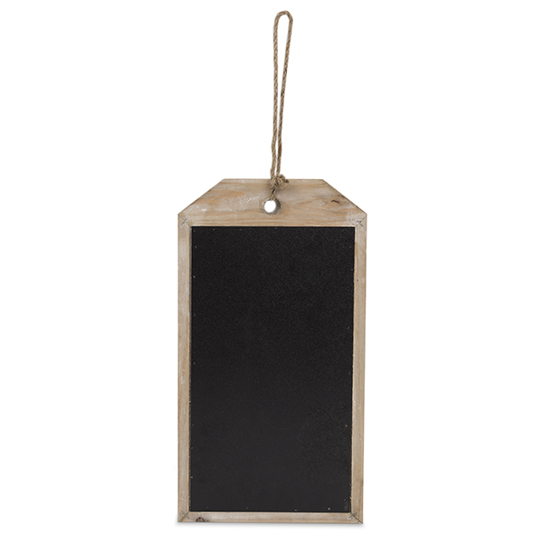 wooden chalkboard tag large