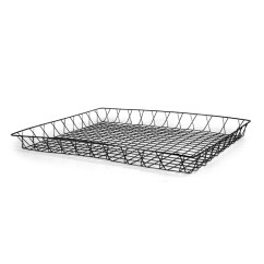 Kitchen Shelf Liners Facelift Before And After Shallow Rectangular Wire Tray Basket - Large The Lucky ...