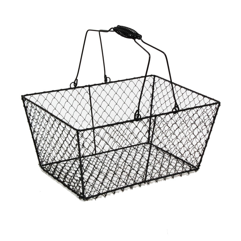 Wire Rectangular Mesh With Swing Handle Black The Lucky