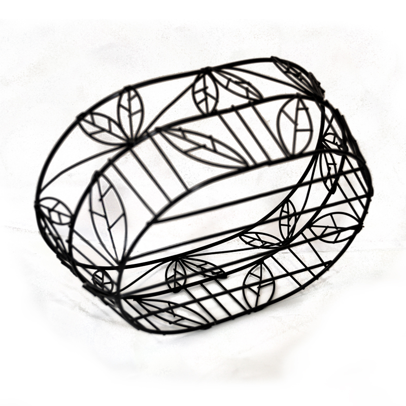 Stella Oblong Wire Tray Basket (Leaf Motif) The Lucky