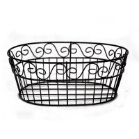 Oblong Scroll Wire Tray Basket The Lucky Clover Trading Co.