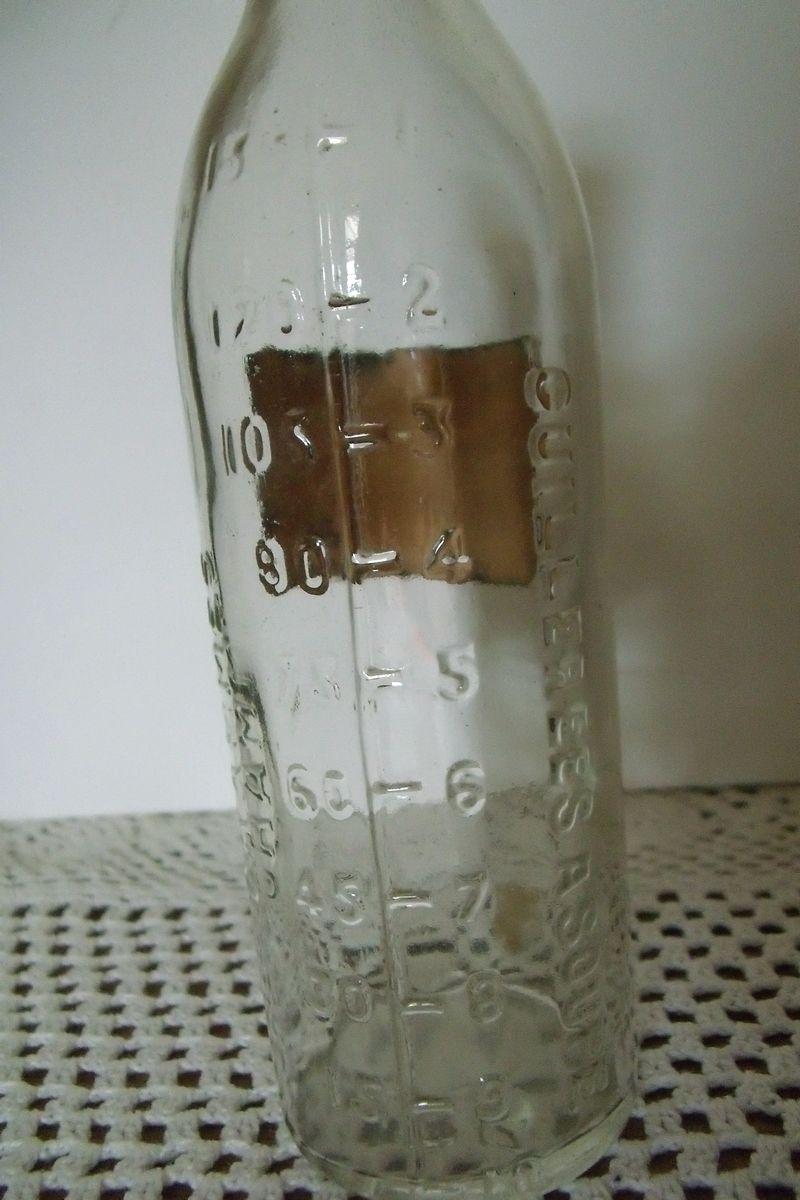 ancienne bouteille flacon de pharmacie graduee