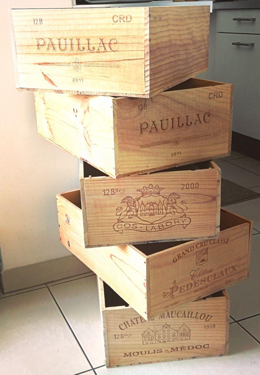 caisses de vin vides 12 bouteilles