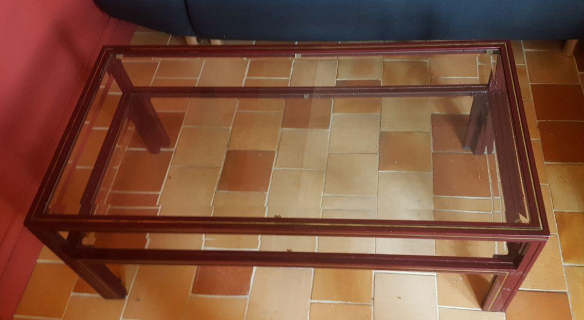 table basse design en verre 70 80 pierre vandel