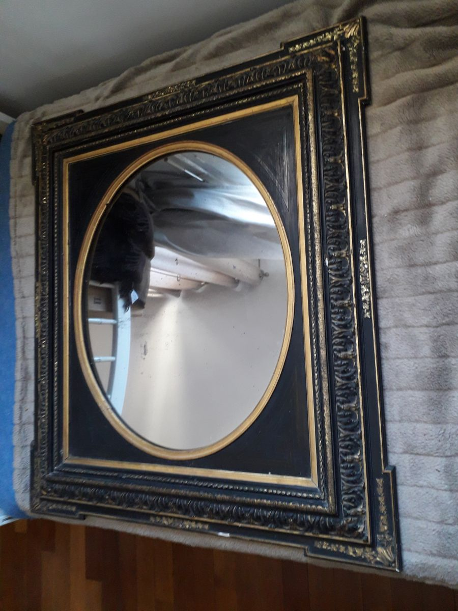 miroir ancien de style napoleon iii 85 75