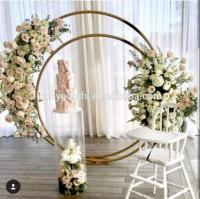 Customized Gold Plating Metal Arch Backdrop Decoration ...