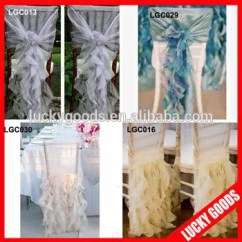 Chair Back Covers Wedding Patio Metal Chairs 2015 Fancy Organza Curly Willow Cover For Manufacturers And Factory China Wholesale Lucky Goods