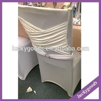 cream chair covers for weddings free folding chairs white banquet use spandex ruffled wedding cover wholesale