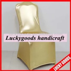 Fancy Chair Covers Table And Rental Birmingham Al Gold Color Stretch Polyester For Weddings Wholesale Manufacturers Factory China Wedding Lucky Goods