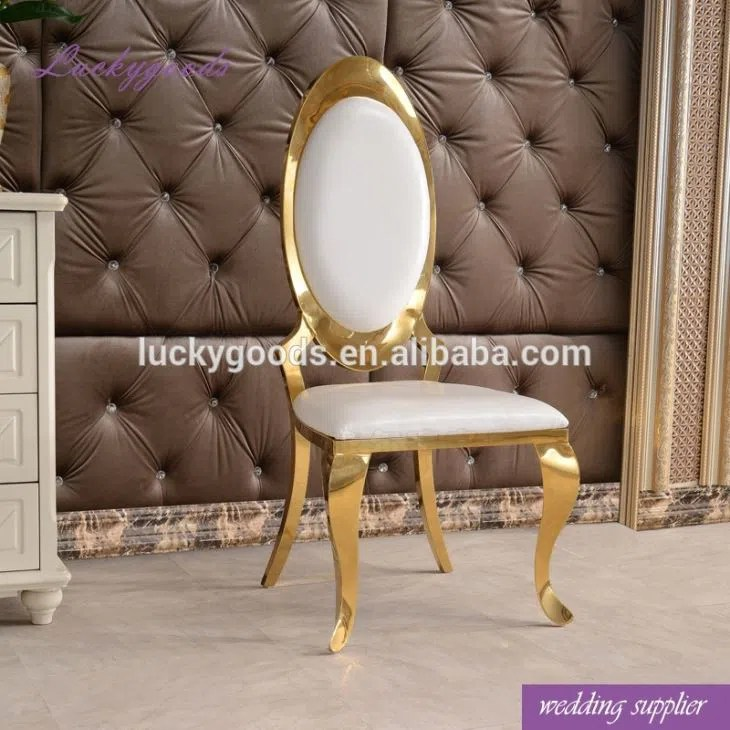steel chair gold cheap barber chairs lyz026 hot sale stainless pu dinning manufacturers and factory china wholesale wedding lucky goods