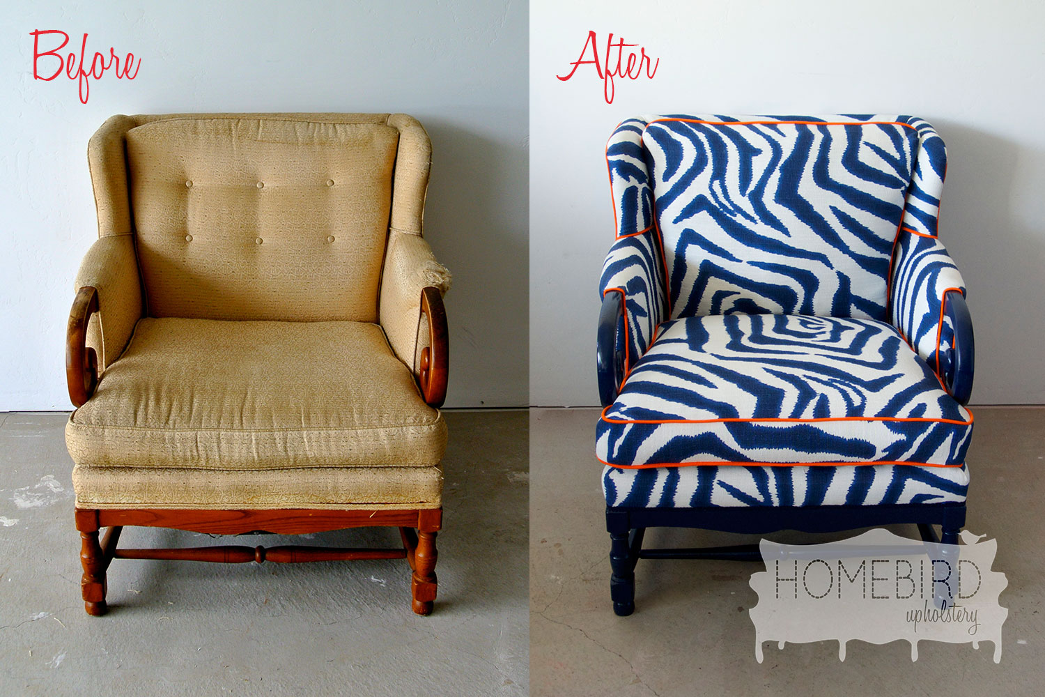 Chair Upholstery And After