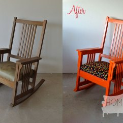 First Step High Chair Hammock Frame Before And After Mission Styled Rocking Lucky