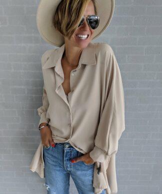 lange Oversize Bluse SOLO – versch. Farben
