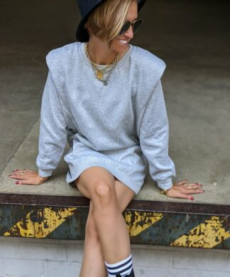 Sweater AMAZING – LONG – grau