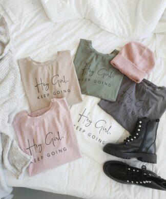Shirt HEY GIRL – versch. Farben
