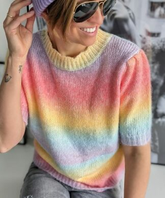 Pullover OVER THE RAINBOW – short sleeves
