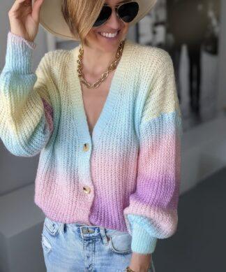 Cardigan mit Knöpfen Multicoloured Pastell