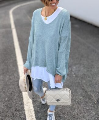 Pullover V-NECK LIGHT SUMMER- versch. Farben