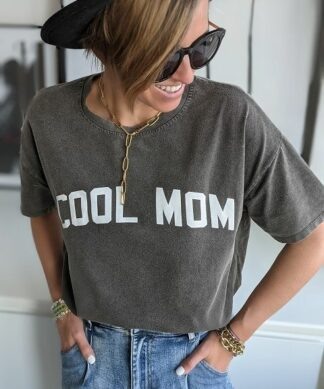 Shirt COOL MOM- acid-wash – versch. Farben