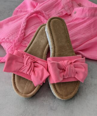 Pantolette Give it a Bow – neon-pink SALE