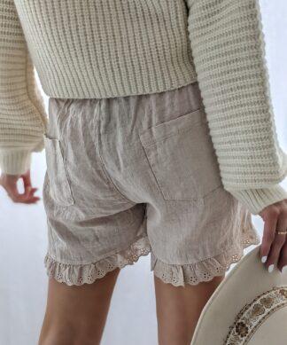 Leinen Shorts LOVELY LACE