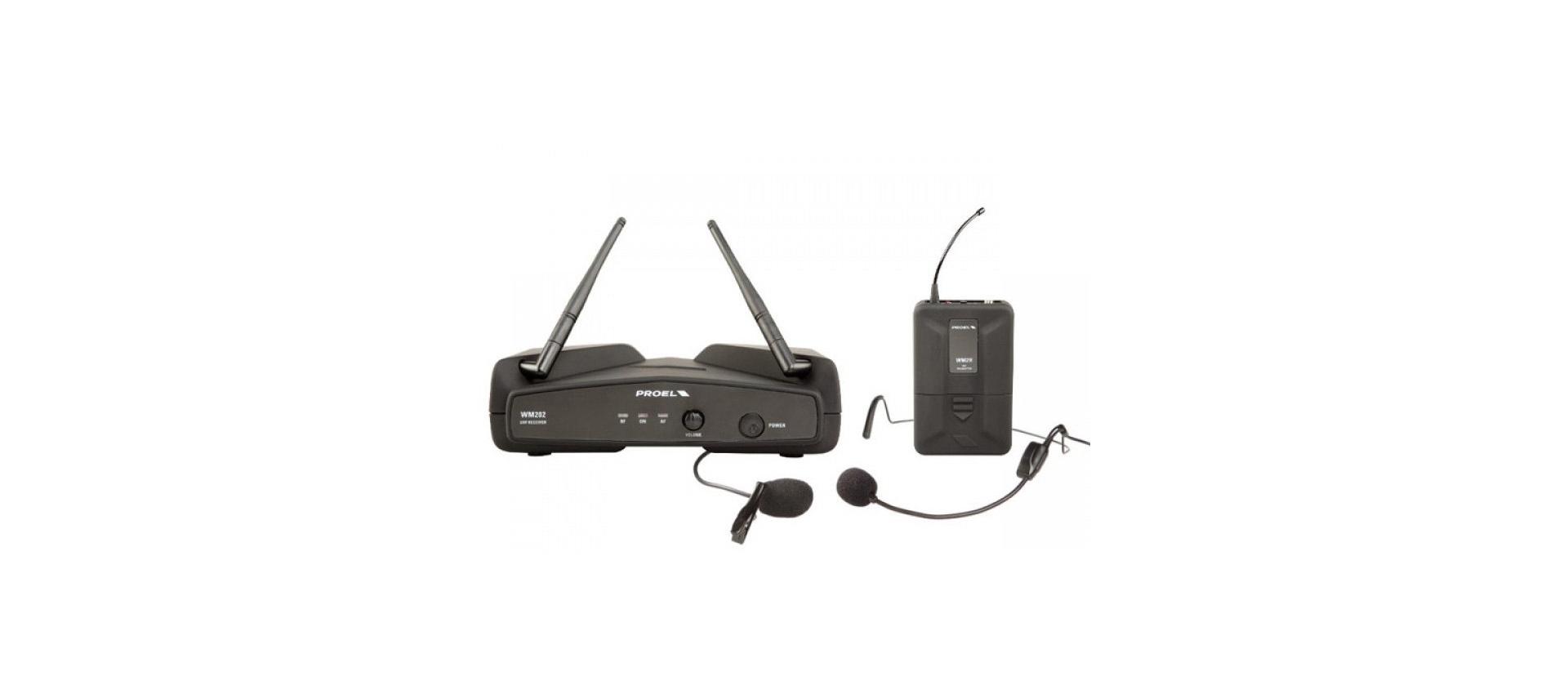 Proel Wm202h Radiomicrofono Headset Uhf 1 C E