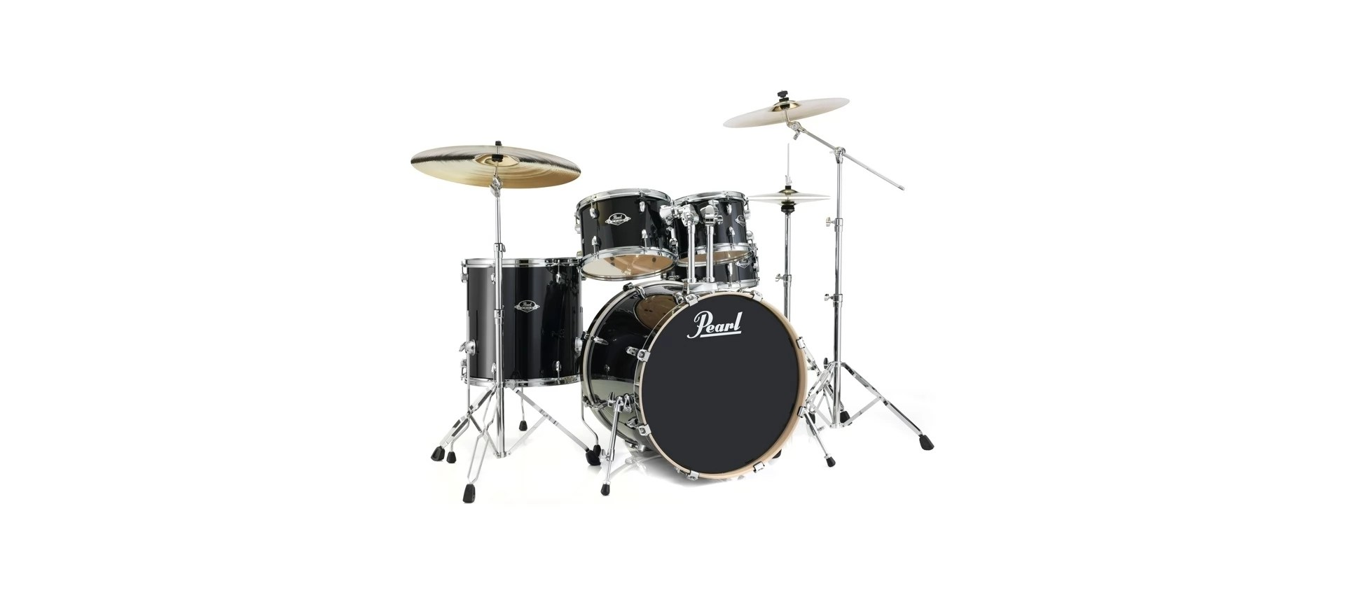 Pearl Exl725s C248 Export Drum Kit Black Smoke