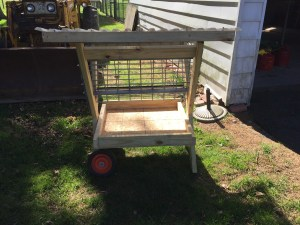 Our new goat feeder.