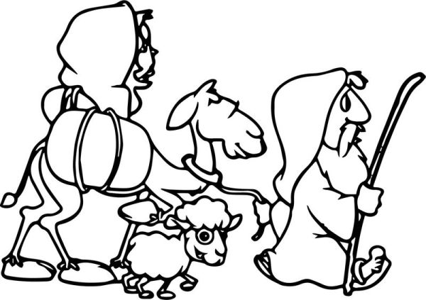 abraham and sarah coloring pages # 52