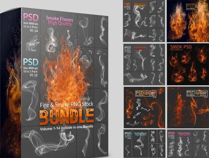 Fire & Smoke PNG Stock Bundle
