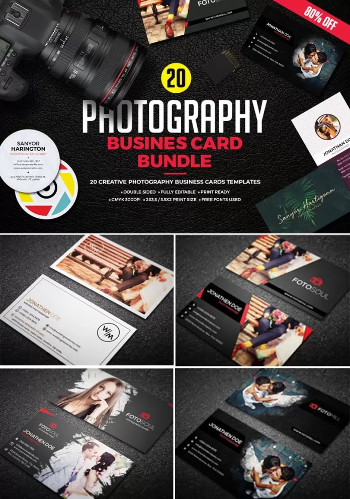 20 Modern Photographer Business Cards