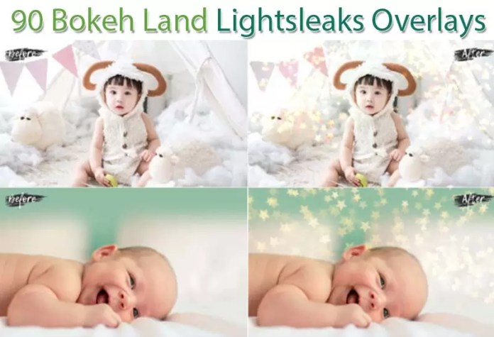 90 Bokeh Land Lightsleaks Overlays