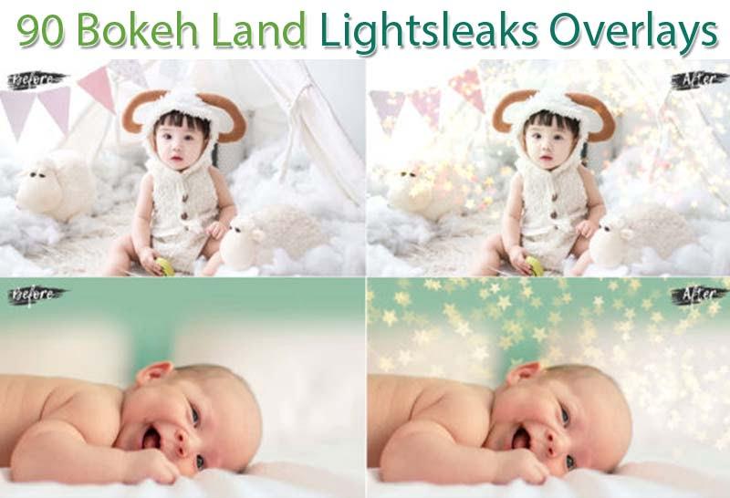 90 Bokeh Land Lightsleaks Overlays