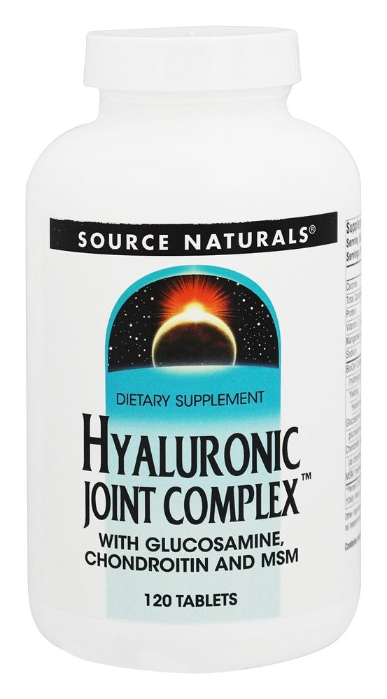 Buy Source Naturals - Hyaluronic Joint Complex With Glucosamine, Chondroitin, and MSM - 120 Tablets at LuckyVitamin.com