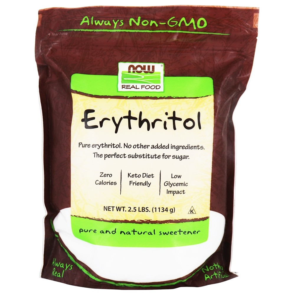 Buy NOW Foods - Erythritol 100% Pure Natural Sweetener - 2.5 lbs. at LuckyVitamin.com