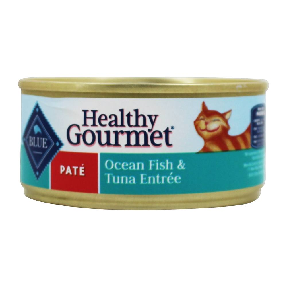 Blue Buffalo - Healthy Gourmet Canned Cat Food Pate Oceanfish & Tuna 5.5 Oz