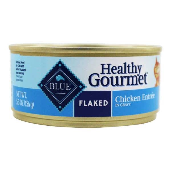 Blue Buffalo - Healthy Gourmet Canned Cat Food Flaked Chicken Entree 5.5 Oz